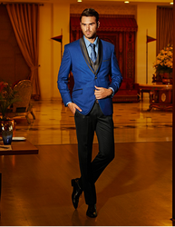 Royal Blue Tuxedo With Pencil Fit Trouser