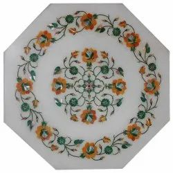 New High quality Marble Inlay Pietra Dura Dinning Table Tops