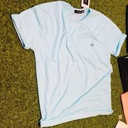 Calvin Klein Cotton Light Blue T Shirt