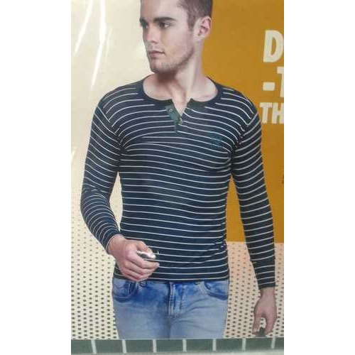 Strip Casual Wear Mens 1328 Trendy Full Sleeves T-shirt