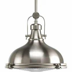 Nickel Searchlight Pendant Lamp