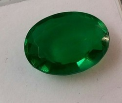 Dyed Emerald Oval Cut Stone