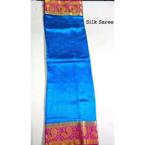 9f3f5ae22db5cb Blue Silk Saree