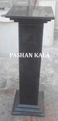 Black Marble Pedestals