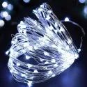 LED String Light, 10M, 100 LEDs Copper Wire Fairy Lights Battery Operated -Yellow, White, Coloured