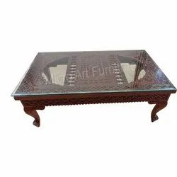 Heritage Carved Wooden Center Table