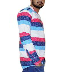 Cotton Casual Mens Stylish Shirt, Size: 44