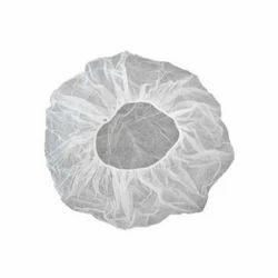 White Non Woven Bouffant Cap, Size: Free Size