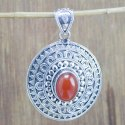 925 Sterling Silver Jewelry Copper Turquoise Gemstone Pendant
