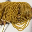 Natural Yellow Sapphire Faceted Rondelle Beads Necklace