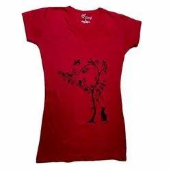 Ladies Half Sleeves T Shirt