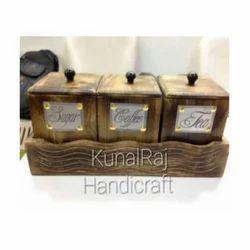 Brown Wooden Kitchen Box