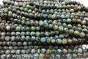African Turqouise Round Plain Beads