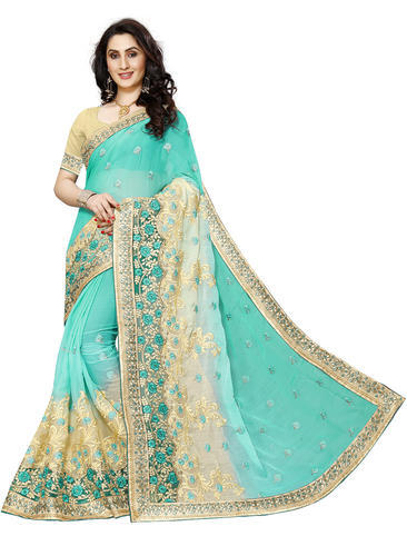 520f3c7f1a Full Border Embroidery Saree at Rs 1049 /piece | Border Saree | ID ...