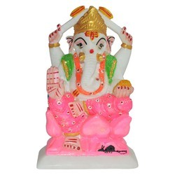 Marble Painted Ganesha