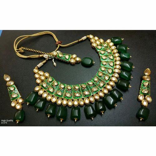 7faf0093ff Designer Jewelleries - Kundan Necklace Set Wholesale Supplier from ...