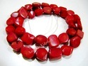 Red Coral Tumbled Beads