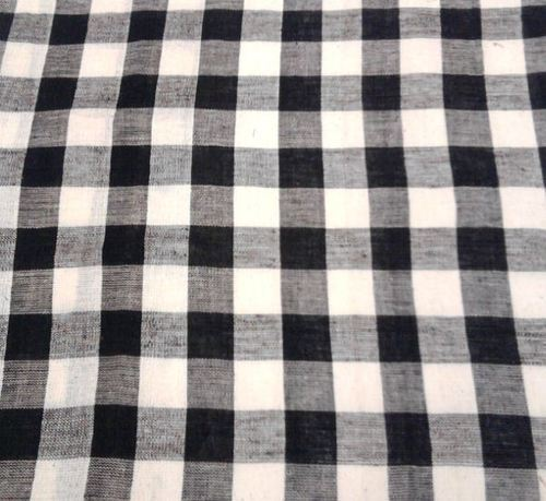 Fabrics Black And White Checkered Fabric Exporter From Etawah