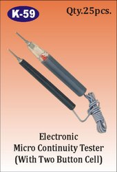 K-59 Electronic Micro Continuity Tester With 2 button Cell