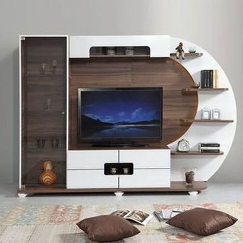 Brown And White Modular Wall Tv Unit Warranty 3 Year