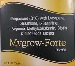 Ubiquinone with Lycopene, L-Glutathione, L-Carnitine, L-Arginine, Methylcobalamin Tablets