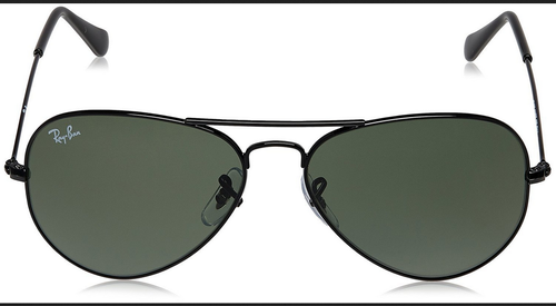 d4ac3fc6c26f Green Lens With Black Frame Glass Lens With Metal Frame Ray-Ban Aviator  Sunglasses (