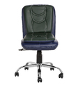 Workstation Blue and Dark Green Chair