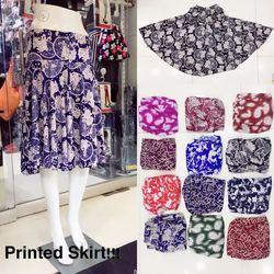 Lycra Cotton Ladies Short Skirt