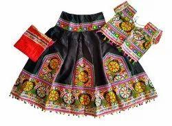 Heavy Embroidered Kids Chaniya Choli - 28 Size - 7 to 10 Year