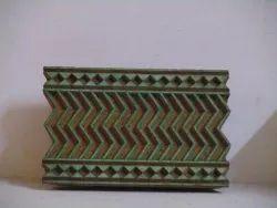 Brown Hardwood Wooden Textile Printing Blocks