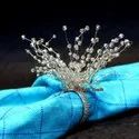 Beaded Napkin Rings Crystal Napkin Ring Holders