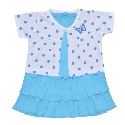 Blue & White Orange and Orchid Kids Girls Frock, Packaging Type: Packet, Age Group: 0 To 4 Years