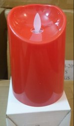 LD-3413 LED Pillar Candle Red 1 Pc.