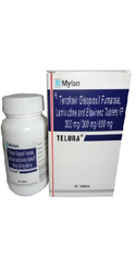 Telura Tenofovir Disoproxil Fumarate, Lamivudine & Efavirenz 600mg Tablets