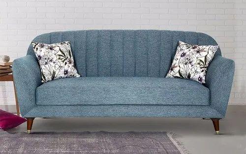 Modern Three Seater Fabric Sofa, Model Name/Number: 129