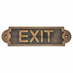 Exit Brass Sign