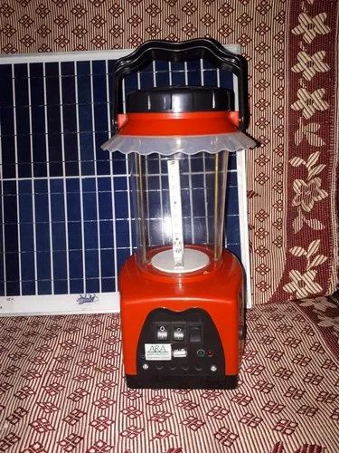 Abs Body Red Solar led Lantern with FM MP3