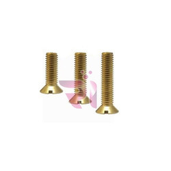 Brass Full Thread Wood Screw, Packaging Type: Box