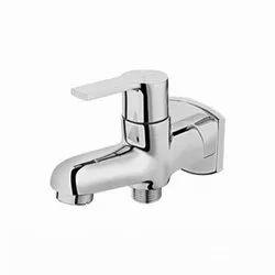 Flotus Italian 108 Brass Chrome 2 Way Bib Cock With Flange, For Bathroom Fittings