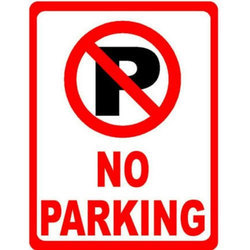 No Parking Sign Board