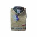 Mens Cotton Yellow Plain Shirt, Size: S - Xl