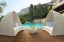Wicker Poolside Bed