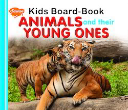 Kids Board Book Animals & Their Young Ones