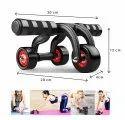 3-Wheel Roller Design Ab Exerciser