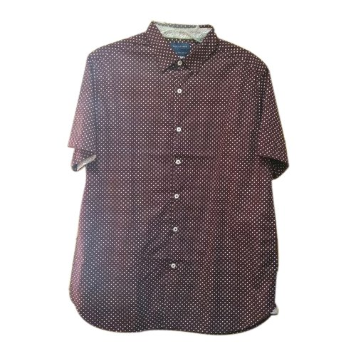 Mens Cotton Half Sleeve Brown Casual Shirt