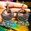 Oxidized Jhumka Earrings