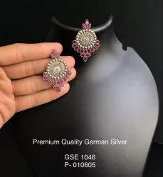 Antique Silver Look Alike Earrings