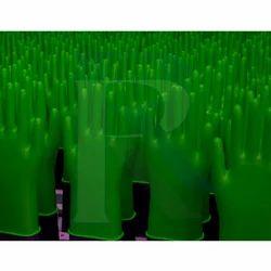 Green Rubber Hand Gloves