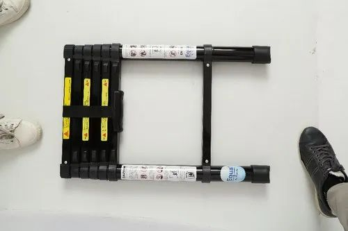 Equal Black Aluminium Telescopic Ladder