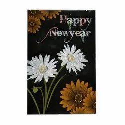 Multicolor Paper New Year Greeting Card